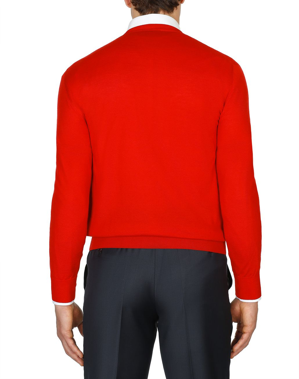 BRIONI Limited Edition Red Cashmere Sweater Knitwear Man d