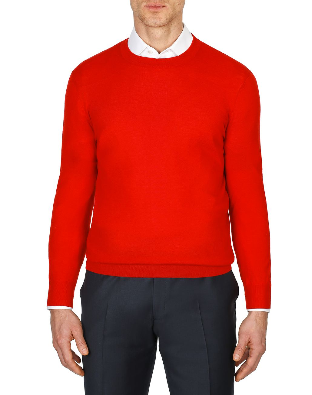 BRIONI Limited Edition Red Cashmere Sweater Knitwear Man r