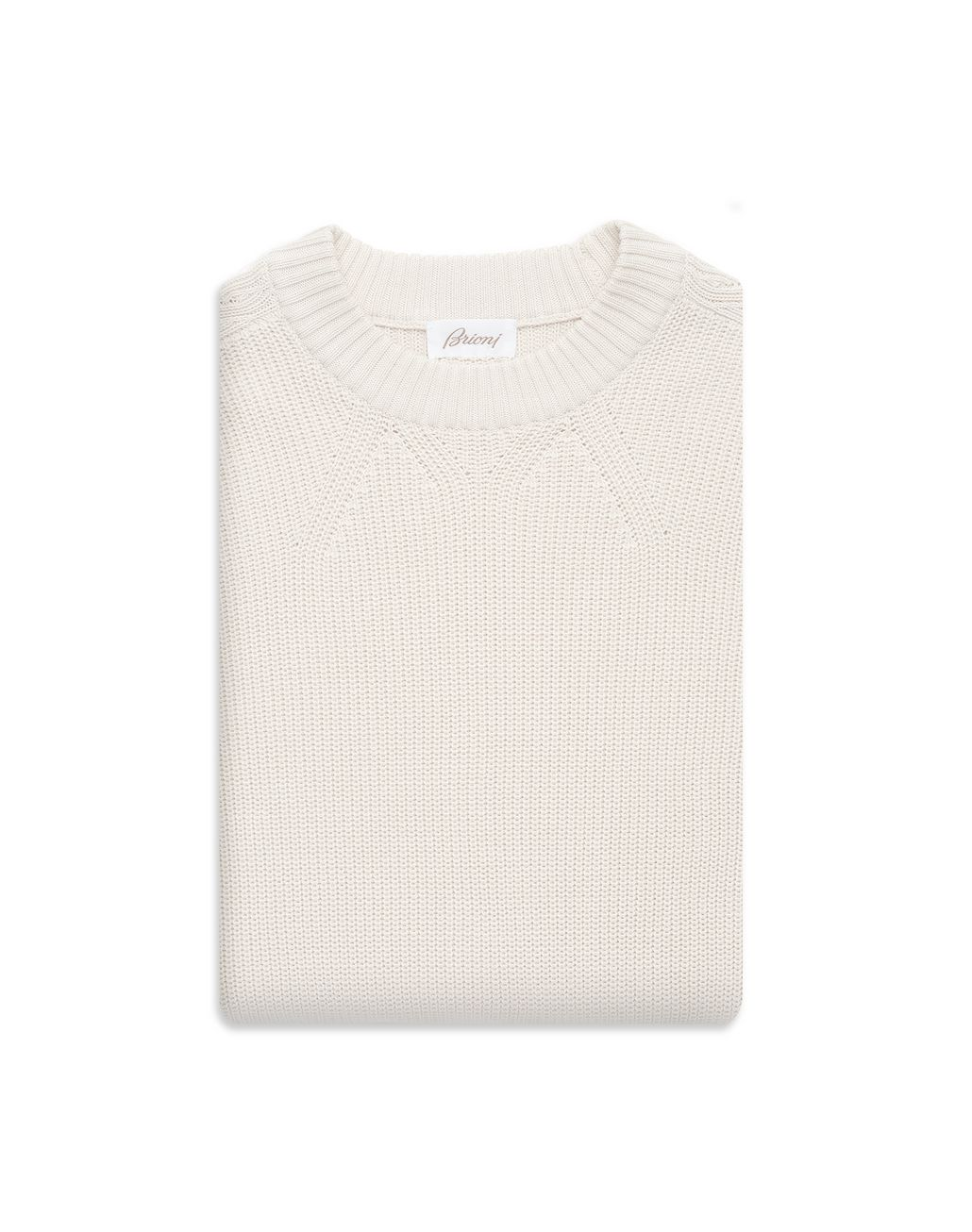 BRIONI Ivory Oversized Fit Sweater Knitwear Man e