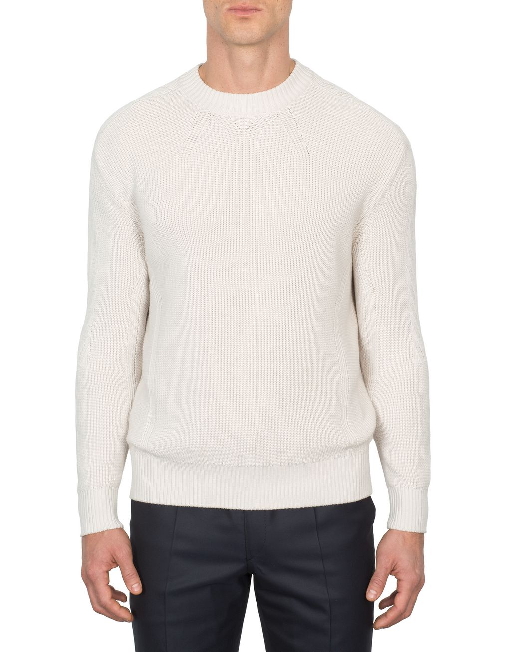 BRIONI Ivory Oversized Fit Sweater Knitwear Man r