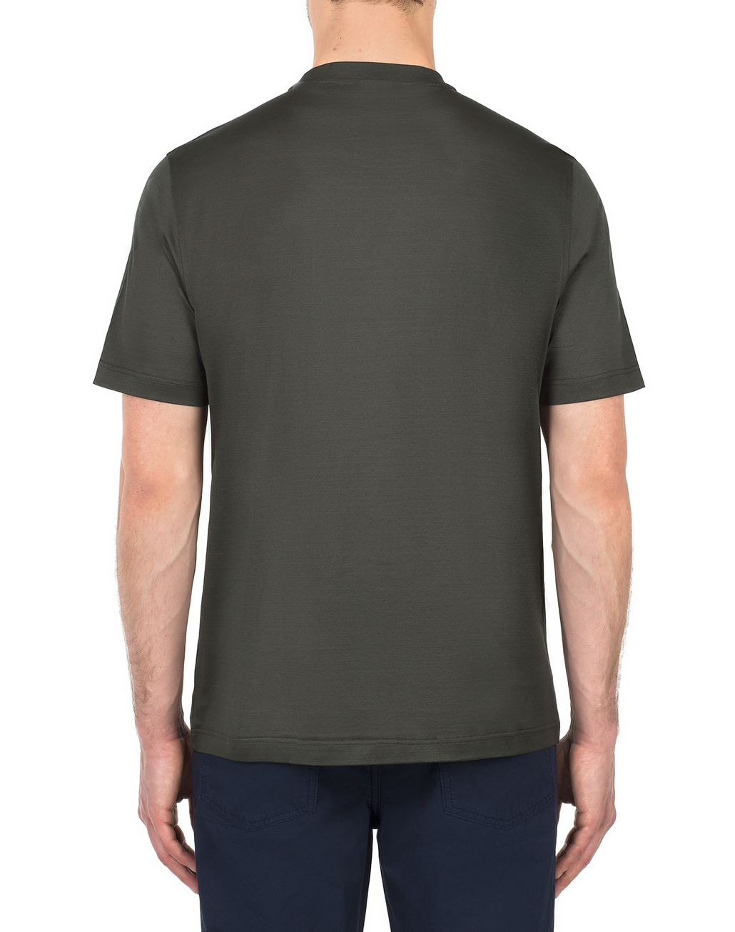 BRIONI Thyme Green Jungle Embroidery T-Shirt T-Shirts & Polos Man d
