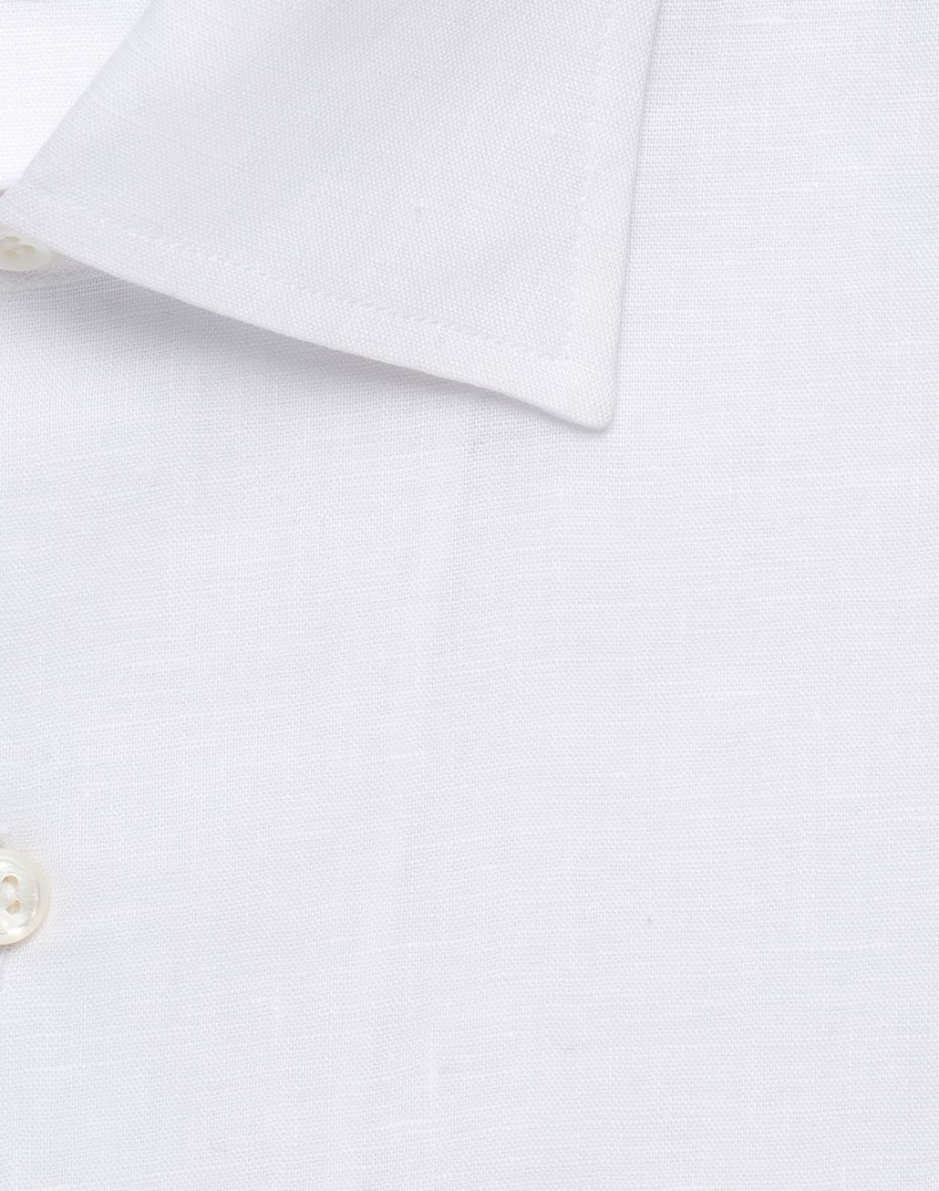 BRIONI White Linen Ventiquattro Shirt Leisure shirt Man e
