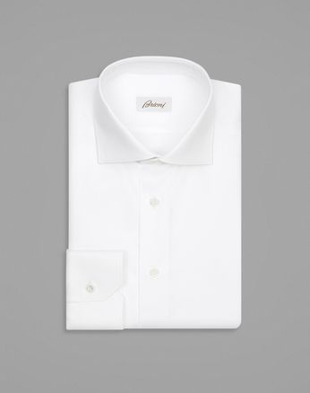 White Tone-on-Tone Rhombus Design Formal Shirt