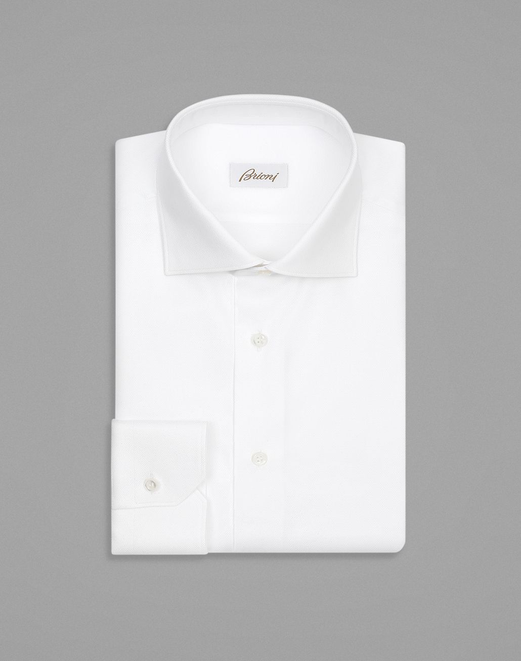 BRIONI White Tone-on-Tone Rhombus Design Formal Shirt Formal shirt Man f