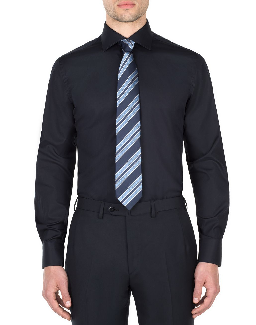 BRIONI Blue Formal Shirt Formal shirt Man r