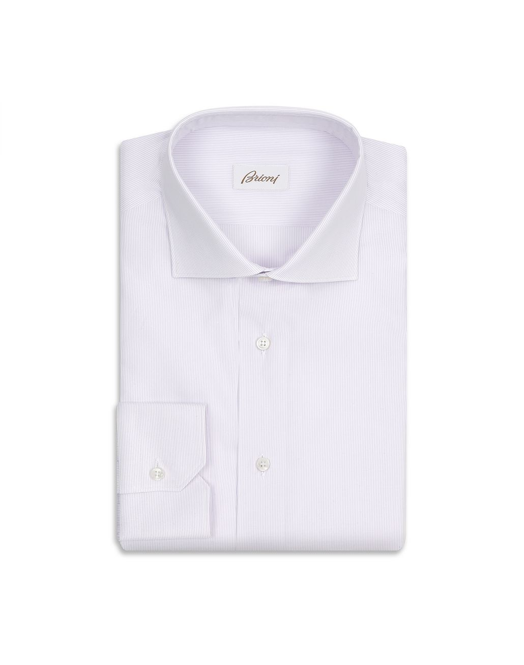 BRIONI Lilac and White Striped Formal Shirt Formal shirt [*** pickupInStoreShippingNotGuaranteed_info ***] f