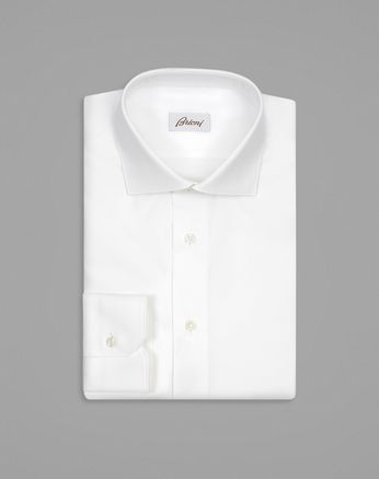 White Tone-on-Tone Striped Formal Shirt