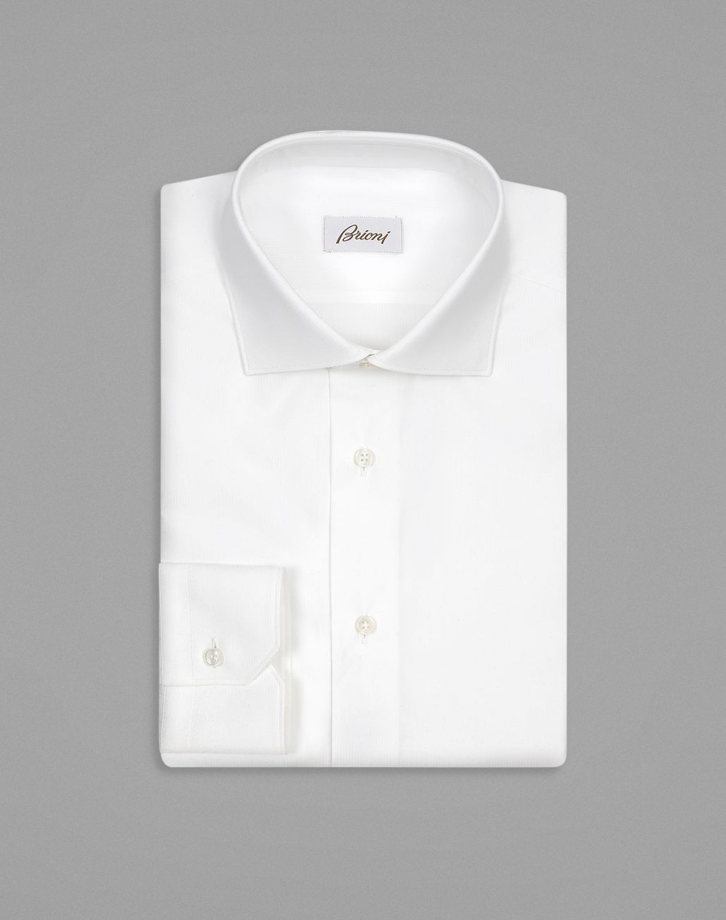 BRIONI White Tone-on-Tone Striped Formal Shirt Formal shirt Man f