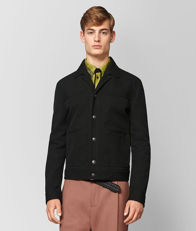 BOTTEGA VENETA NERO COTTON JACKET Outerwear and Jacket Man fp