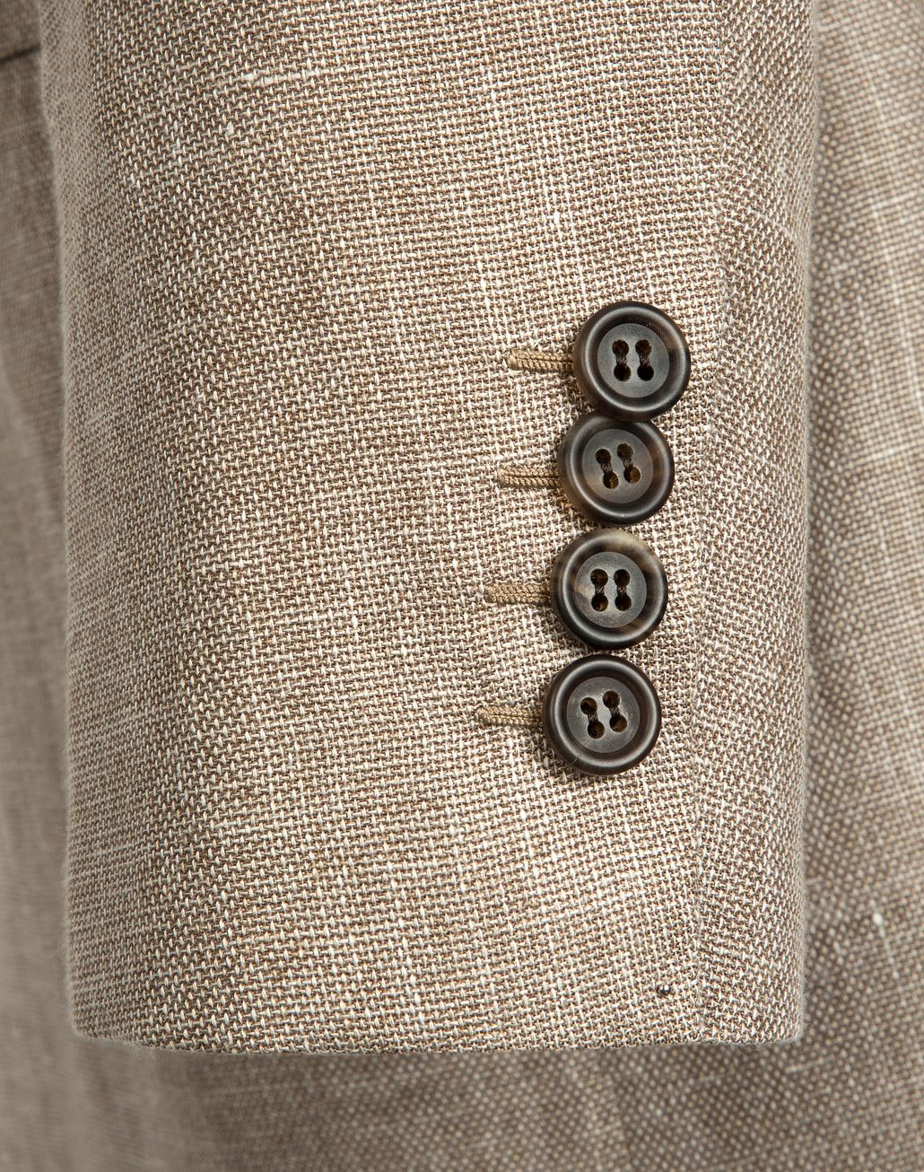 BRIONI Beige Hopsack Linen Plume Jacket Suits & Jackets Man a