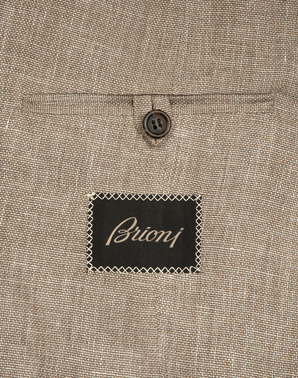 BRIONI Beige Hopsack Linen Plume Jacket Suits & Jackets Man b