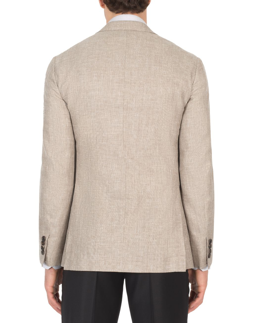 BRIONI Beige Hopsack Linen Plume Jacket Suits & Jackets Man d