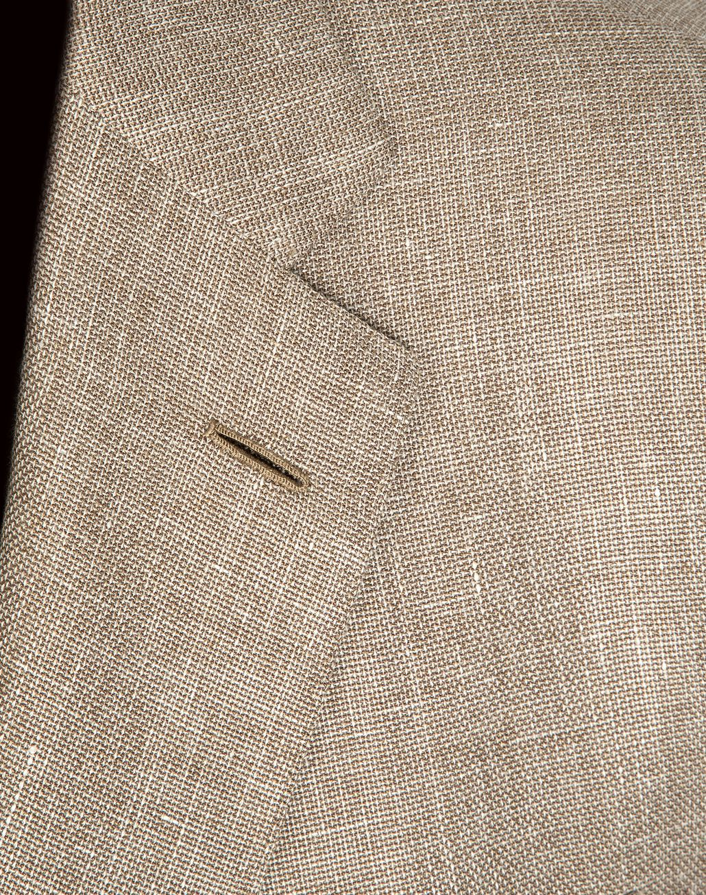 BRIONI Beige Hopsack Linen Plume Jacket Suits & Jackets Man e