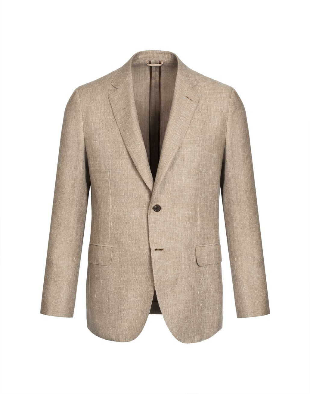 BRIONI Beige Hopsack Linen Plume Jacket Suits & Jackets Man f