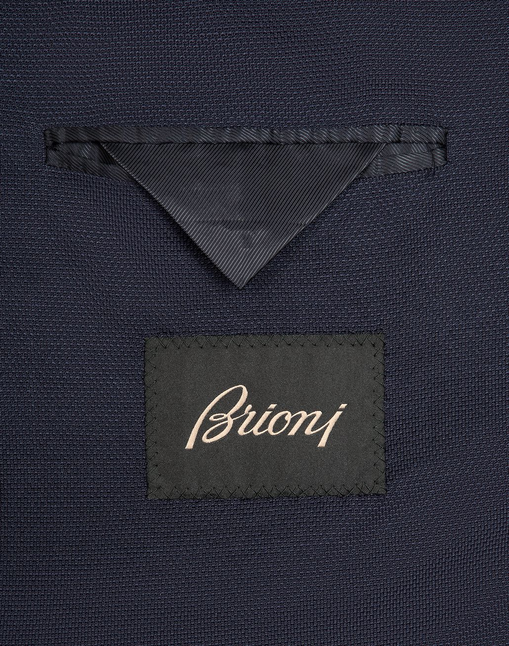 BRIONI Navy-Blue Silk Piqué Jacket Jackets [*** pickupInStoreShippingNotGuaranteed_info ***] a