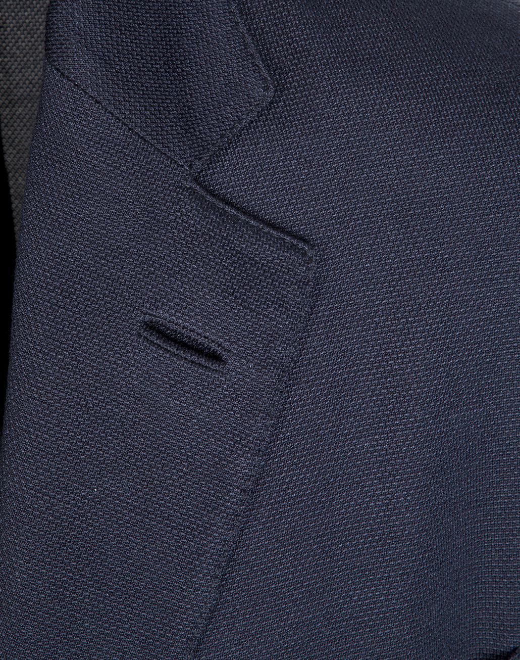BRIONI Navy Blue Silk Piquet Jacket Jackets [*** pickupInStoreShippingNotGuaranteed_info ***] e