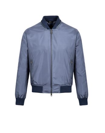 Light Blue Lightweight Silk Bomber