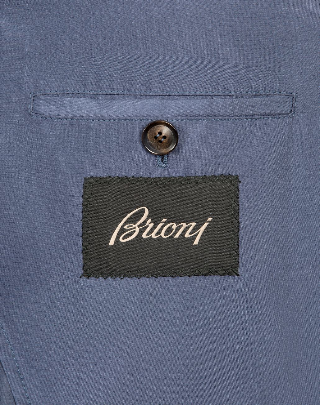 BRIONI Light Blue Lightweight Silk Bomber Outerwear Man b