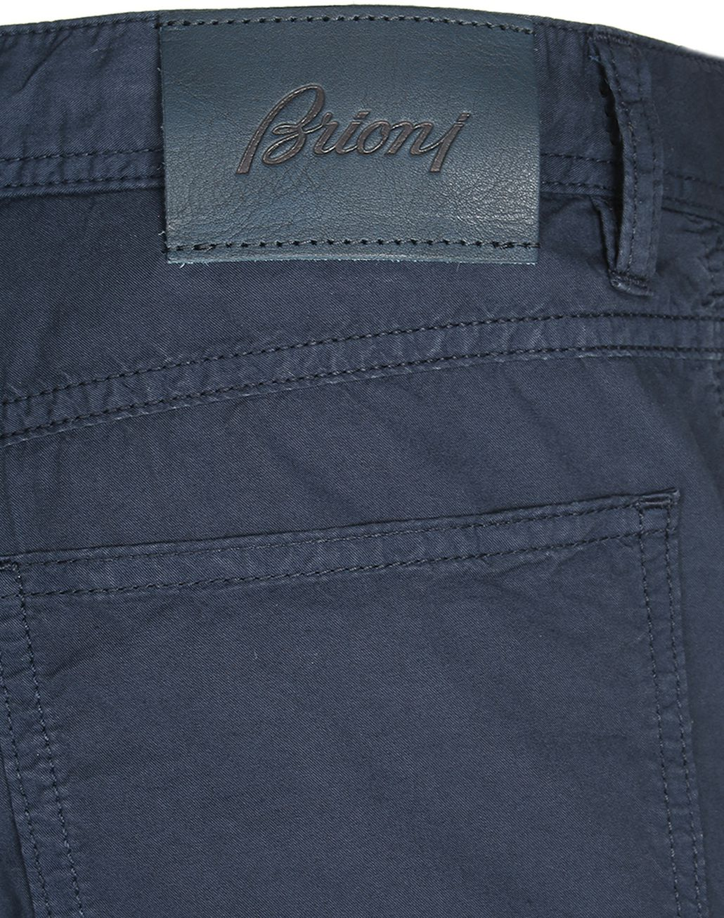 BRIONI Navy Blue Chamonix Five Pockets Trousers Trousers Man a
