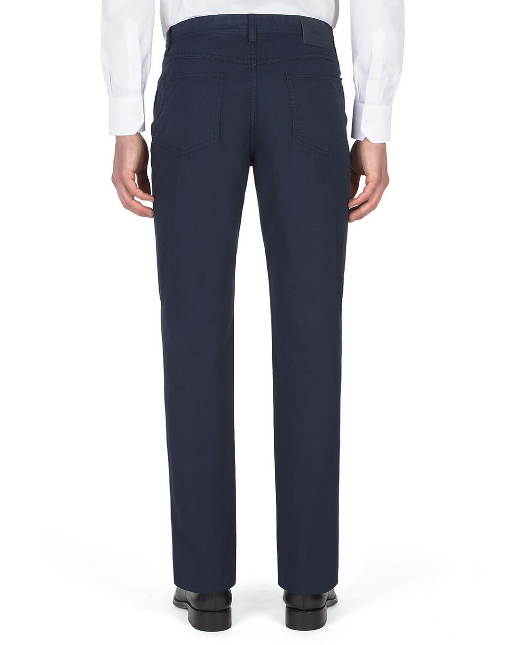 BRIONI Navy Blue Chamonix Five Pockets Trousers Trousers Man d