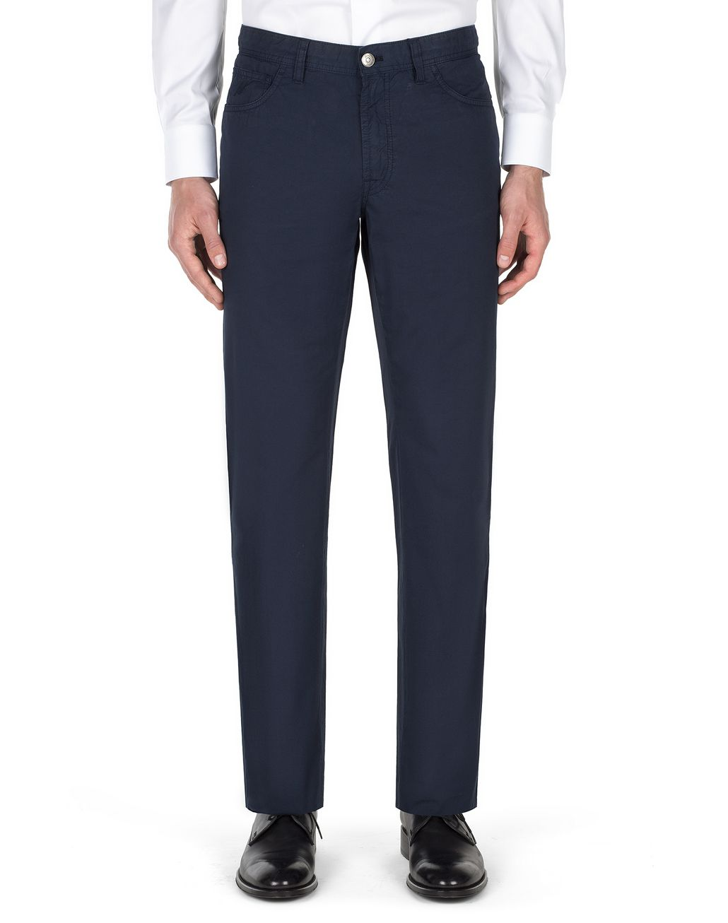 BRIONI Navy Blue Chamonix Five Pockets Trousers Trousers Man r
