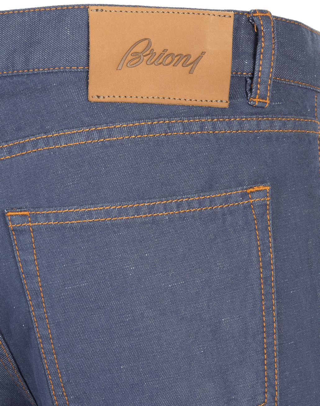 BRIONI Bluette Slim Fit Cotton and Linen Aneto Jeans  Denim Man a