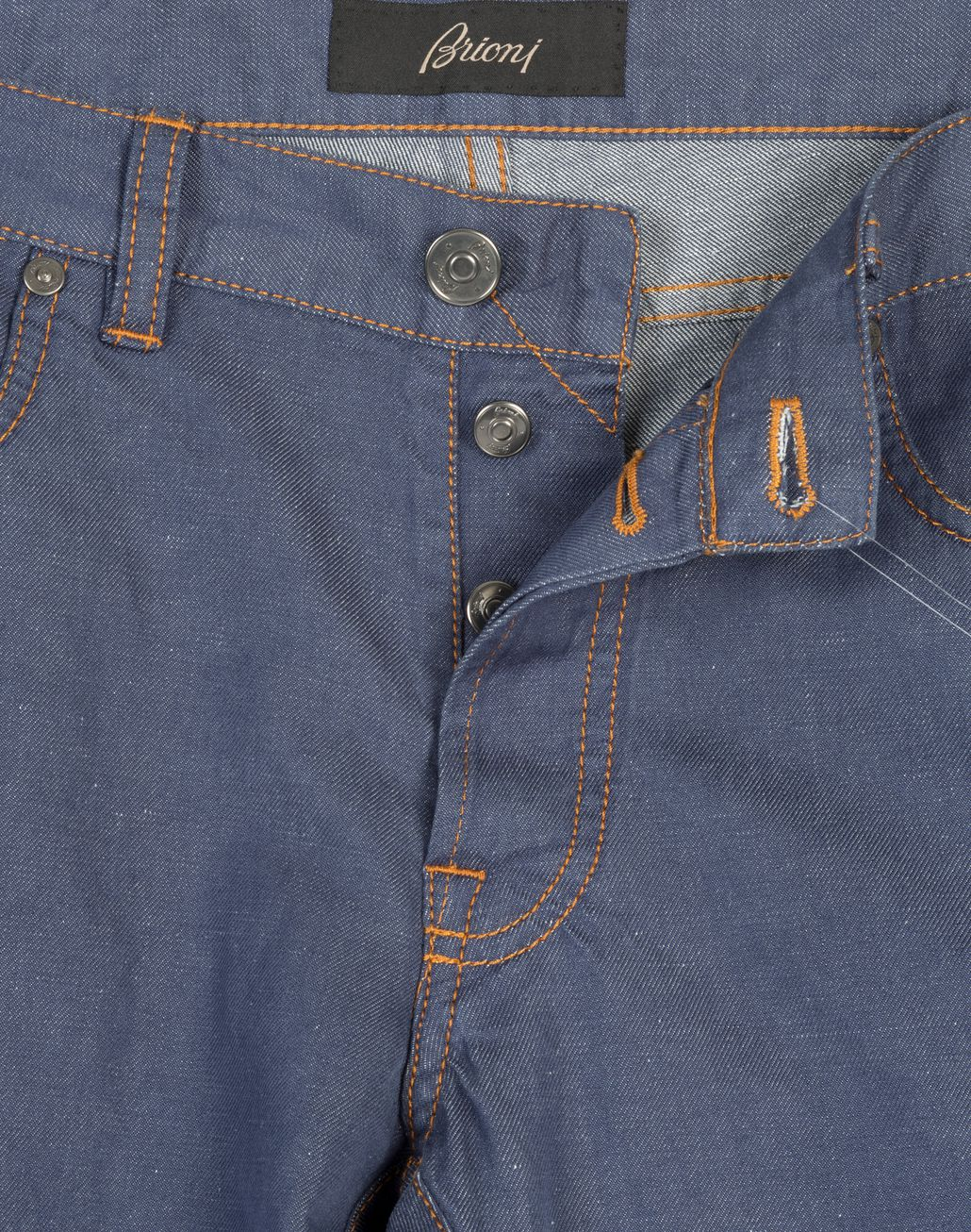 BRIONI Bluette Slim-Fit Cotton and Linen Aneto Jeans  Denim [*** pickupInStoreShippingNotGuaranteed_info ***] b