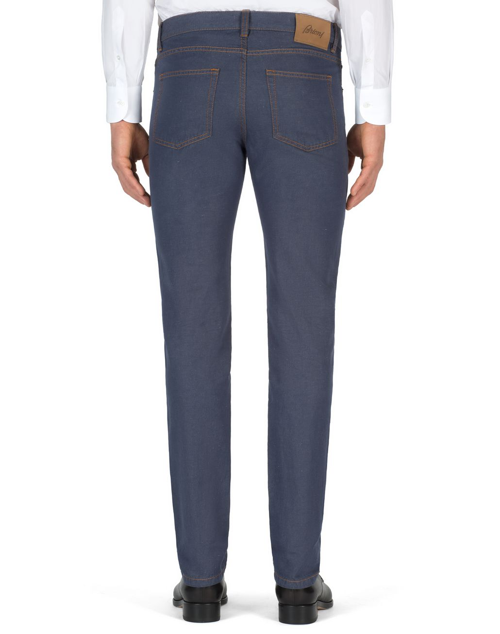 BRIONI Bluette Slim Fit Cotton and Linen Aneto Jeans  Denim Man d