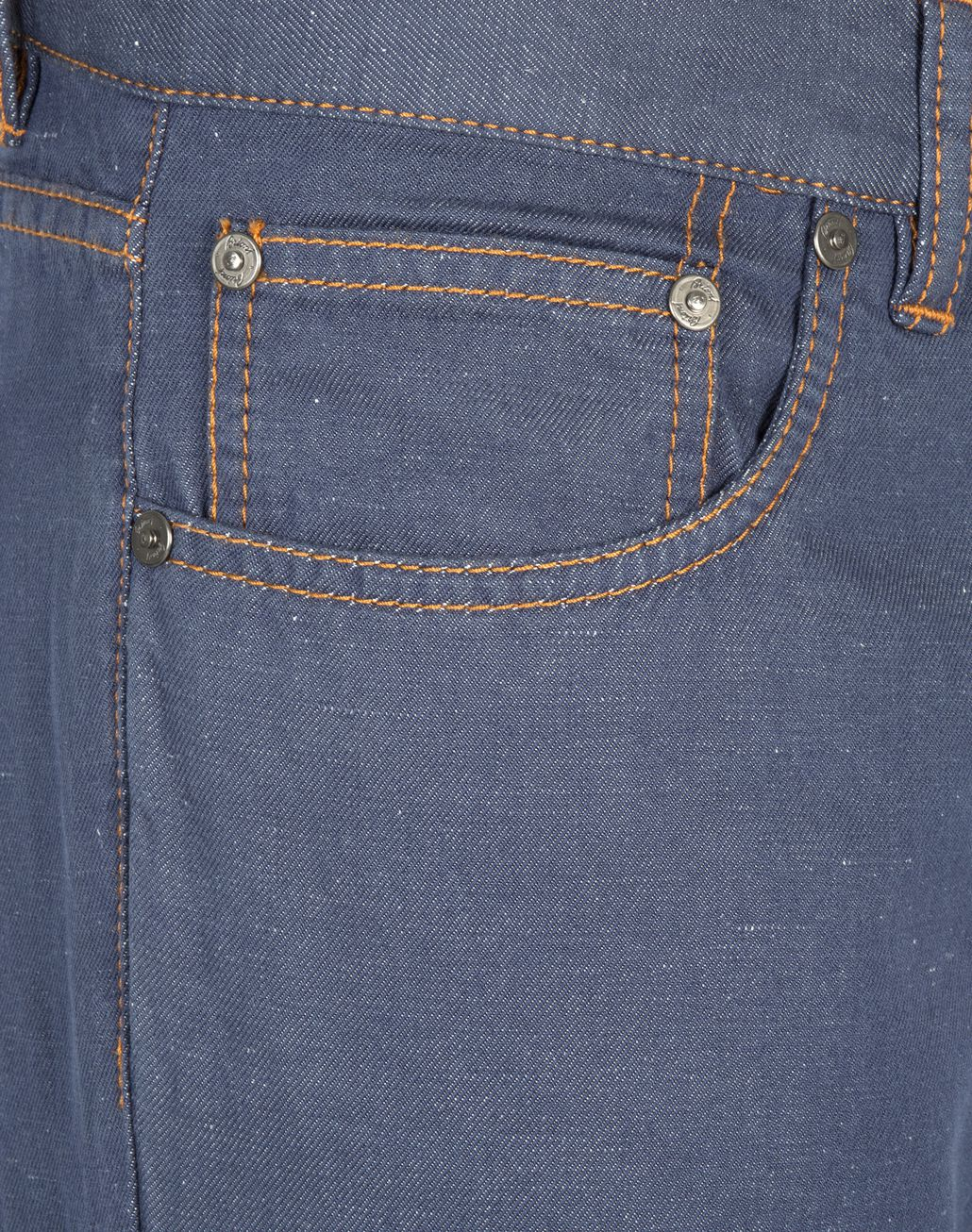BRIONI Bluette Slim Fit Cotton and Linen Aneto Jeans  Denim [*** pickupInStoreShippingNotGuaranteed_info ***] e