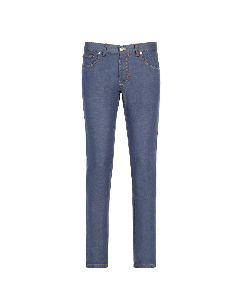 BRIONI Bluette Slim Fit Cotton and Linen Aneto Jeans  Denim Man f