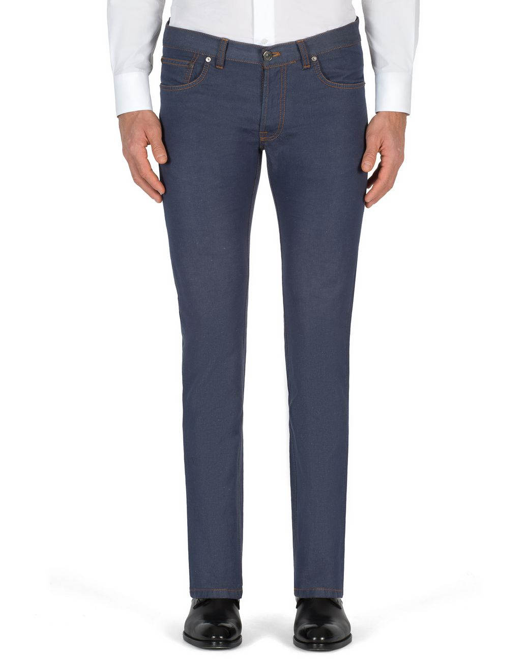 BRIONI Bluette Slim-Fit Cotton and Linen Aneto Jeans  Denim Man r