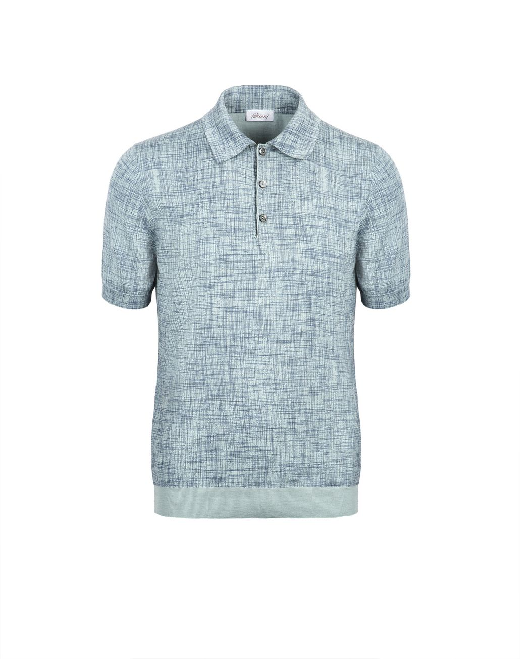 BRIONI Bluette Printed Cotton and Silk Polo Shirt   T-Shirts & Polos Man f