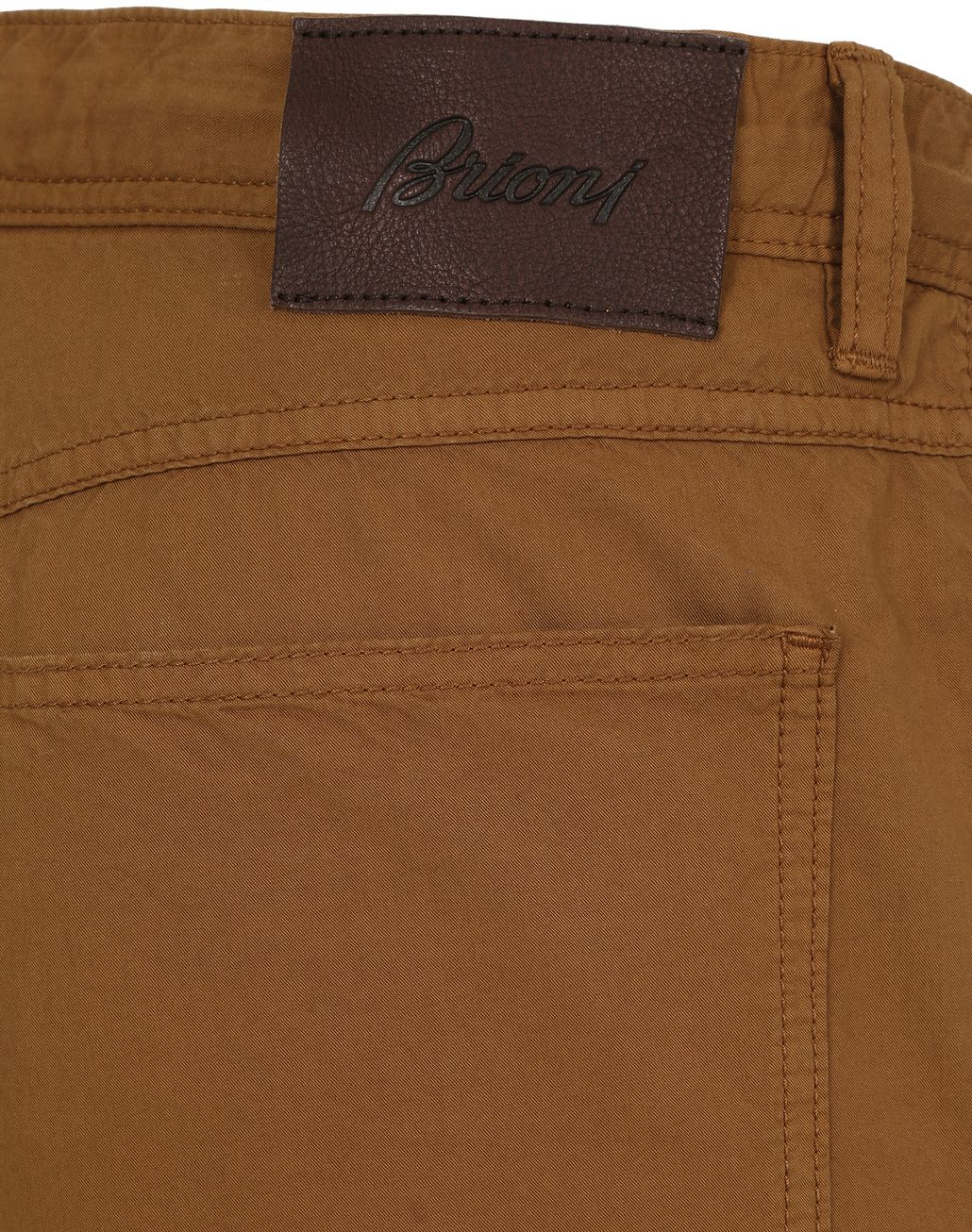 BRIONI Mustard Chamonix Five-Pocket Pants  Trousers Man a