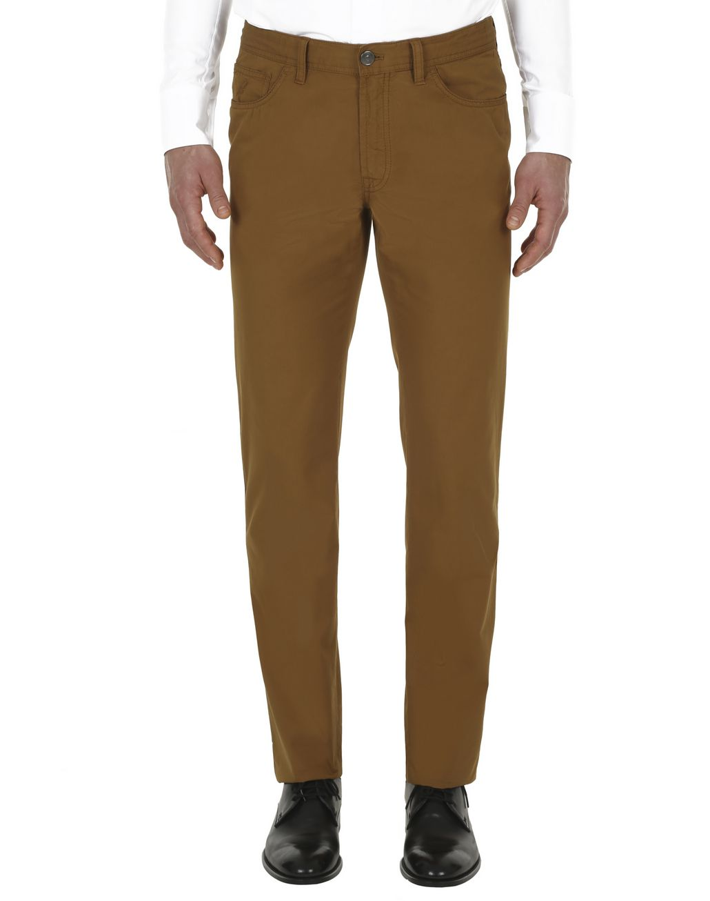 BRIONI Mustard Chamonix Five-Pocket Pants  Trousers Man r