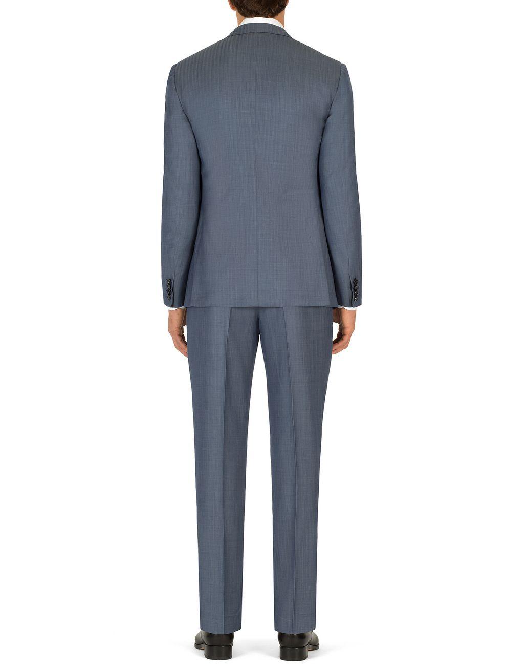 "BRIONI Голубой костюм Ravello с мелким узором ""в ёлочку""   Suits & Jackets Для Мужчин d"