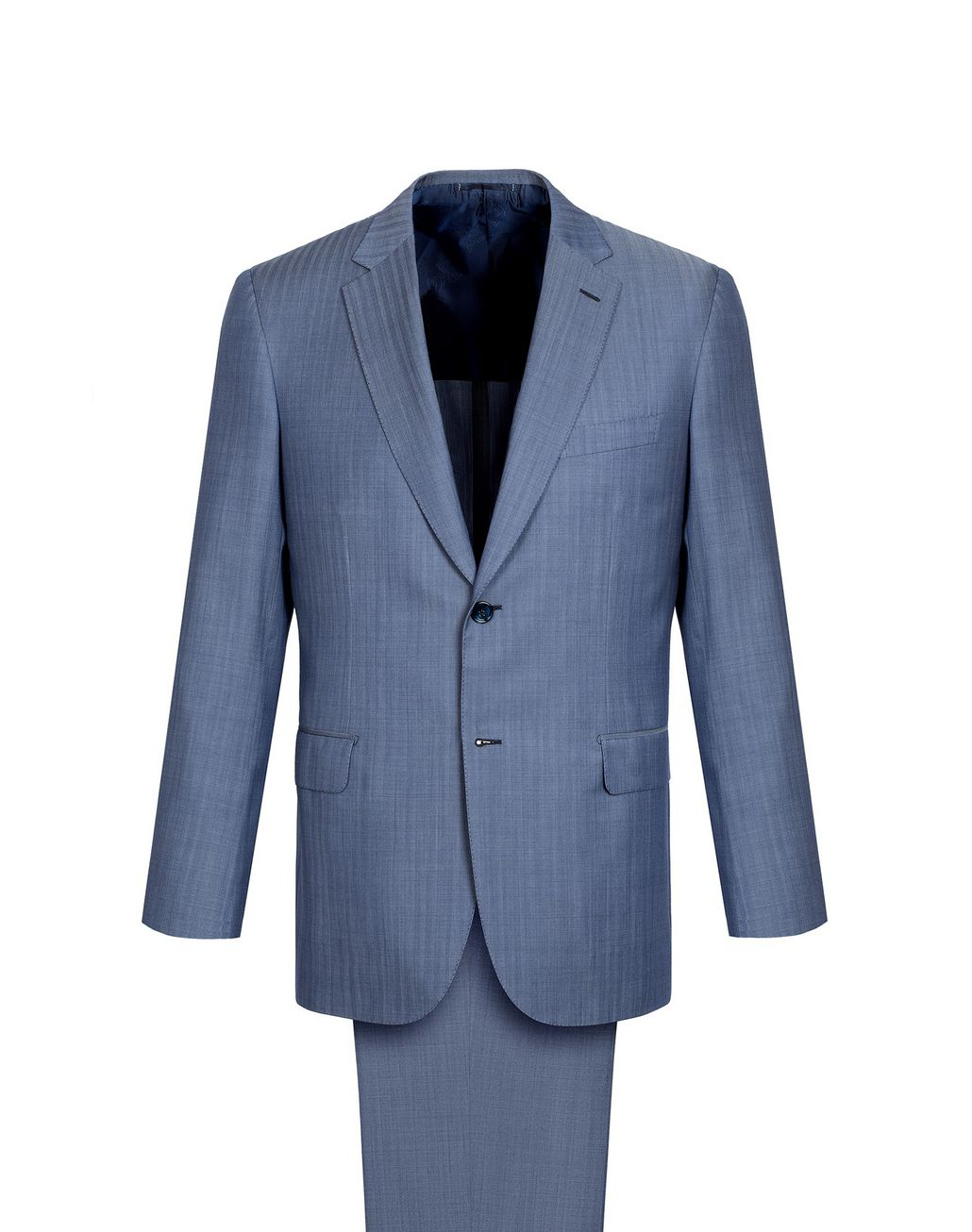 BRIONI Light Blue Micro-Herringbone Ravello Suit   Suits & Jackets Man f