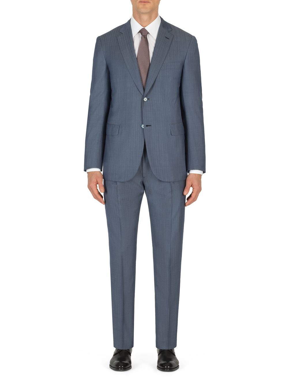 BRIONI Light Blue Micro-Herringbone Ravello Suit   Suits & Jackets [*** pickupInStoreShippingNotGuaranteed_info ***] r