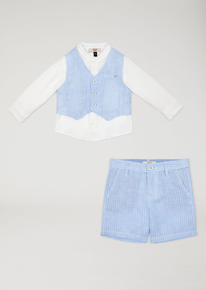 low priced a7317 7c003 Completo camicia e bermuda | Bambino | Armani Junior