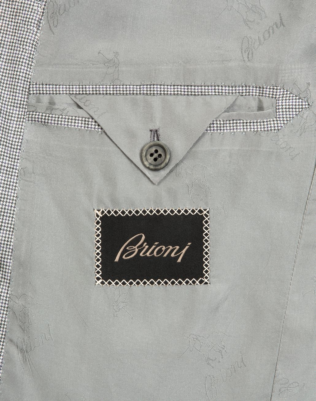 BRIONI White and Gray Micro Houndstooth Brunico Suit  Suits & Jackets [*** pickupInStoreShippingNotGuaranteed_info ***] b