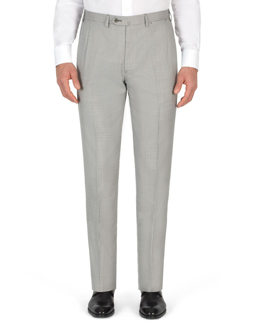 BRIONI White and Gray Micro Houndstooth Brunico Suit  Suits & Jackets Man e