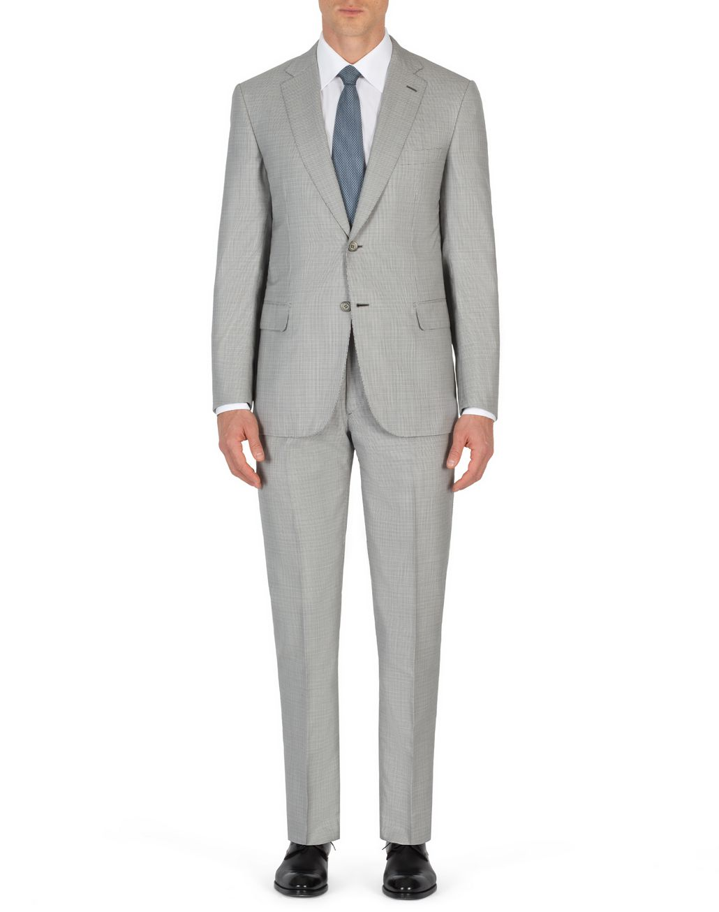 BRIONI White and Gray Micro Houndstooth Brunico Suit  Suits & Jackets Man r
