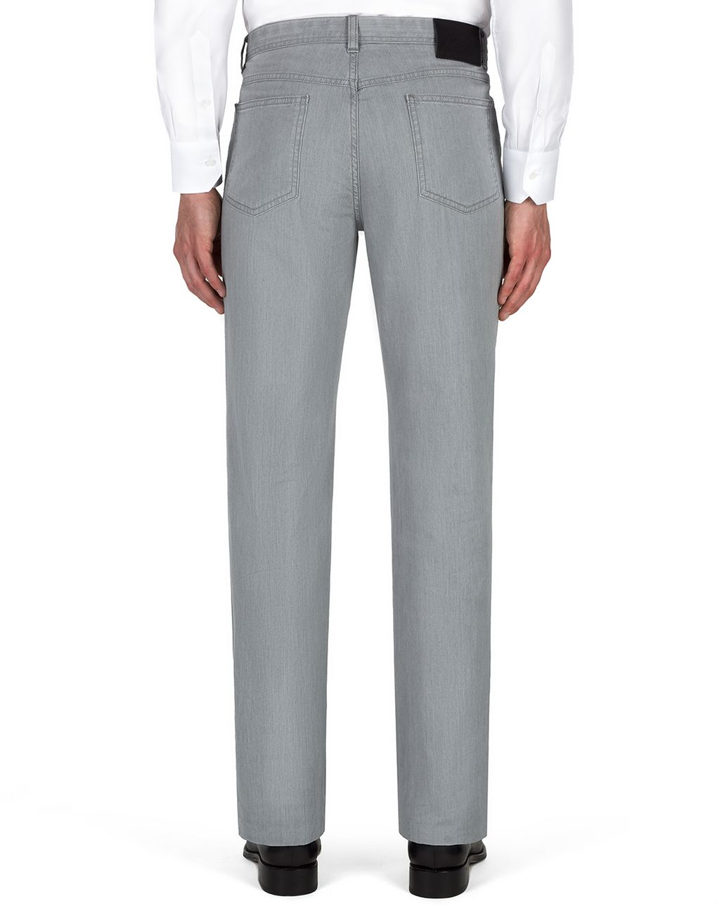 BRIONI Light Grey Comfort Fit Chamonix Jeans  Denim Man d