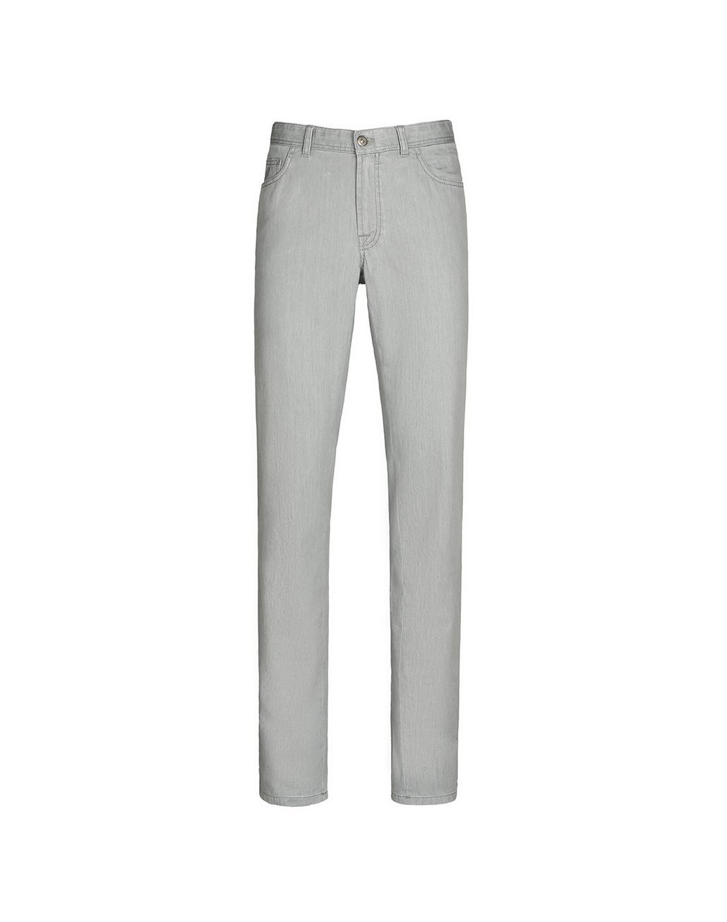 BRIONI Light Grey Comfort Fit Chamonix Jeans  Denim Man f