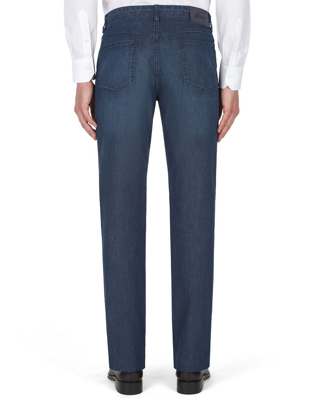 BRIONI Navy-Blue Comfort-Fit Chamonix Jeans  Denim Man d
