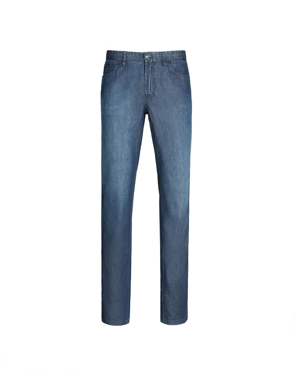 BRIONI Navy-Blue Comfort-Fit Chamonix Jeans  Denim Man f