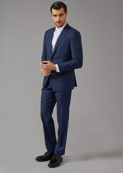 Soft line pinhead fabric suit
