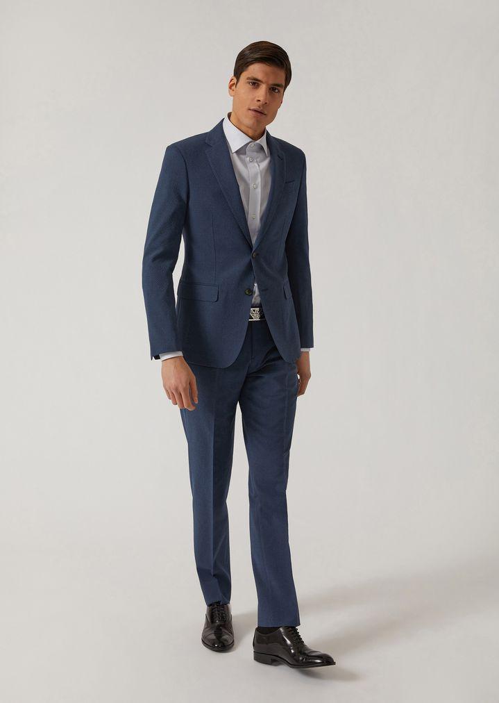 Slim Fit Anzug mit weichen Schultern   Herren   Emporio Armani 876fed36c2