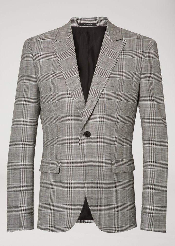 emporio armani anzug mit glencheck muster anzug herren d - Glencheck Muster