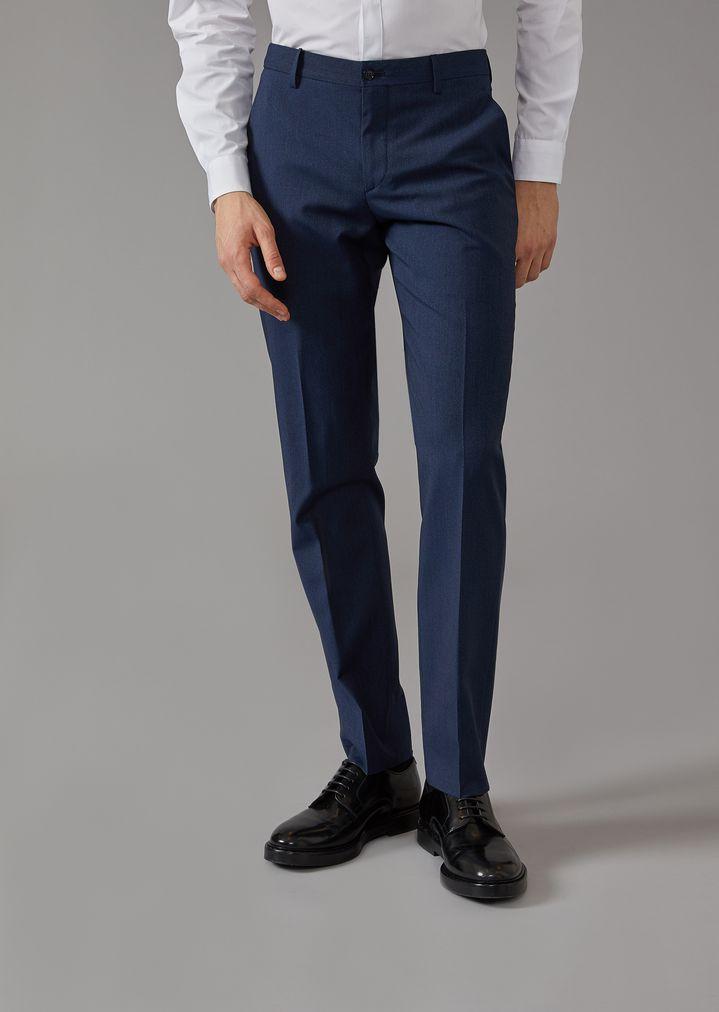 GIORGIO ARMANI Mouline twill Soho suit Suit Man b