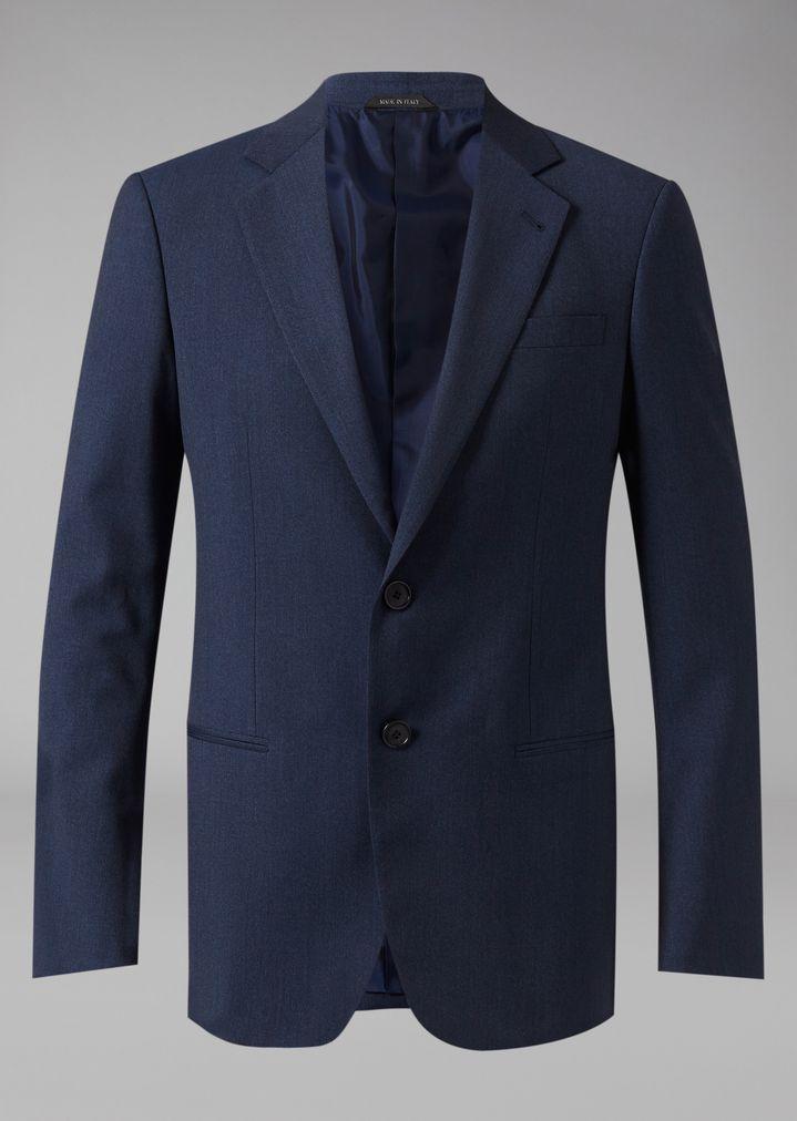 GIORGIO ARMANI Mouline twill Soho suit Suit Man d